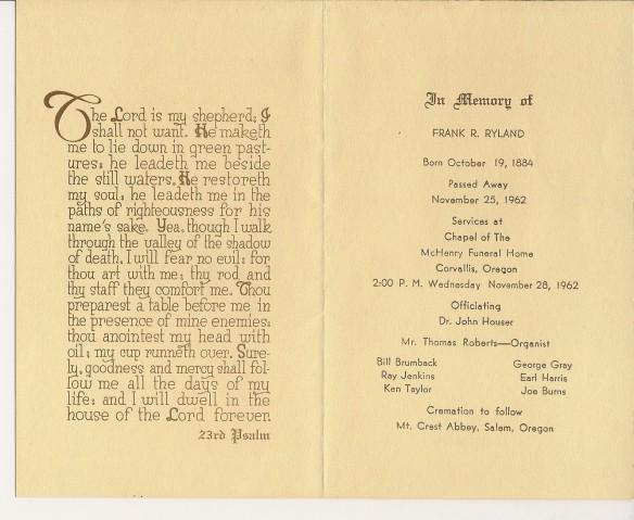 1962 11 25 Funeral Bulletin 2
