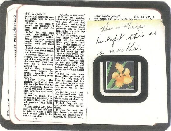 1962 11 Bible marker