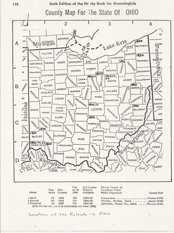 County Map of OH