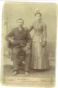 Hannah Carl 1890 Wedding Photo